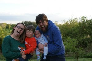 April 2018 me and mine family silly face photo